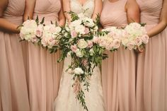 Pink & White Rose Bouquets