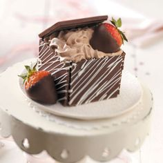 Chocolate Treasure Boxes Recipe from Taste of Home -- Shared by Elaine Nichols of Mesa, Arizona