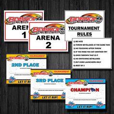 BeyBlade Birthday Tournament, DIY, Printable, Digital Format