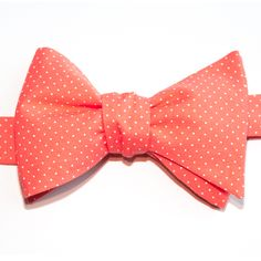 Nœud papillon Mini pois corail Coral with pin dots bow tie