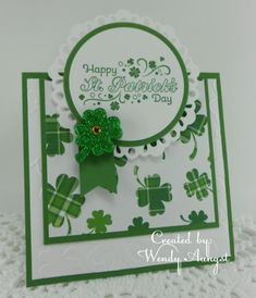 SC476~ Happy St. Patrick's Day by WeeBeeStampin - Cards and Paper Crafts at Splitcoaststampers