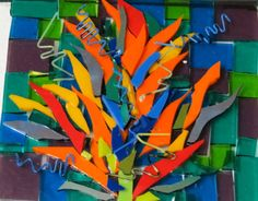heliconia no . 2 wip ready for glass fusing , by kat gottke