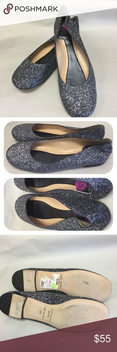Kate Spade Silver Glitter Flats NO TRADES. NO MODELING. Kate Spade silver flats in excellent condition. Tops are in great condition. Size sticker inside shoes and price markings & TJ Maxx sticker on bottoms of shoes. Worn very little. Size 8.5. kate spade Shoes Flats & Loafers