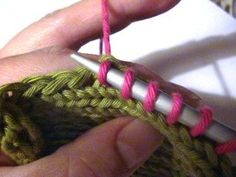Picking Up Stitches When Knitting : Knitting Directions/Instructions on Pinterest Knitting, Knitting Stitches a...