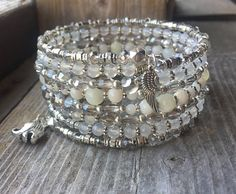 RESERVED FOR ROSE Multi Strand Memory Wire Bracelet With