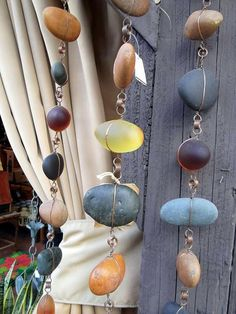 river stones and beach glass stones