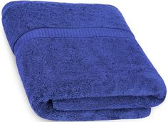 Luxury Bath Sheet Towel (Royal Blue; 35 x 70 Inch) 100% Cotton Extra Large Beach Bath Towels, Machine Washable, Hotel Quality, Super Soft and Highly Absorbent Towels By Utopia Towels