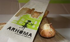 Arhoma - the packaging is almost as good as the bread. The bakery is located in the 'HoMa' (Hochelaga-Maisonneuve) district of Montreal, hence the name.