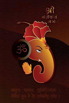 Ads Art Poster Wall decorative and Personalise Greeting cards Shri Ganesh, Ganesha Art, Durga, Krishna, Ganesh Chaturthi Images, Happy Ganesh Chaturthi, Free Hand Rangoli Design, Rangoli Designs Diwali, Hanuman Murti