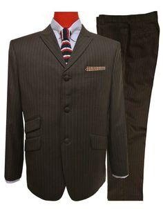 Mod Suits, Mod Jacket, Suit Jacket, Mens 3 Piece Suits, Pinstripe Suit, Tailored Suits, Wedding Suits, Mod Clothing