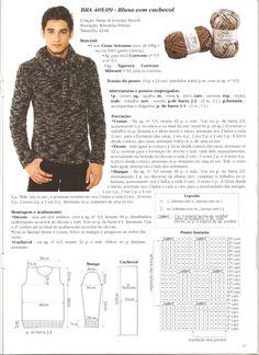 Receita Tricô Fácil   Revista IDEIAS DE TRICÔ CISNE   50 receitas completas em tricô de peças e acessórios                                ... Boys Sweaters, Men Sweater, Cardigans, Crochet Projects, Diy And Crafts, Knitting, Clothes, Fashion, Knit Jacket