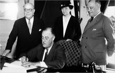 Pictured: 80 years ago today, President Franklin D. Roosevelt signed the National Labor Relations Act, guaranteeing the basic rights of private sector employees to organize into trade unions and collectively bargain.