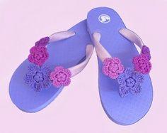 cf49ad934 fiori-uncinetto-flip-flop Diy Crochet Flip Flops
