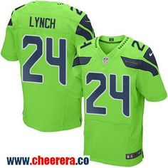 Men's Seattle Seahawks #24 Marshawn Lynch Green 2016 Color Rush Stitched NFL Nike Elite Jersey