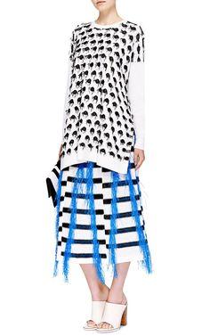 Raffia Trimmed Striped Knit Skirt by Thakoon - Moda Operandi