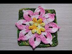 Flor de Crochê Para Aplicação # Flor Amarela - YouTube