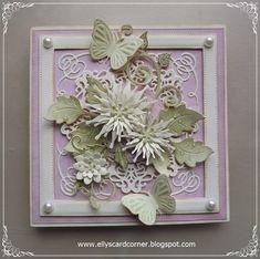 Elly's Card- Corner I Card, Birthday Cards, Crafty, Corner, Frame, Wedding, Handmade Cards, Anniversary, Home Decor