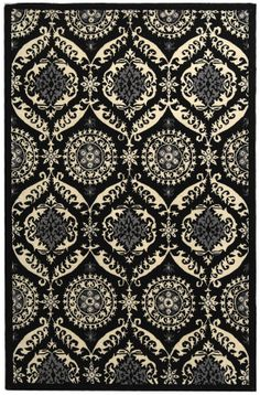 Safavieh Chelsea HK356A Black And Ivory Area Rug | Bold Rugs