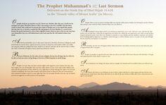 The Prophet Muhammad's Last Sermon...The Farewell Sermon....خطبة الوداع.....Veda Hutbesi....