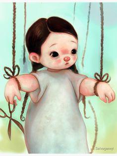 """Puppet"" Photographic Print by Selvagemqt   Redbubble Beautiful Artwork, Dark Art, Puppets, Disney Characters, Fictional Characters, Digital Art, Dolls, Disney Princess, Illustration"