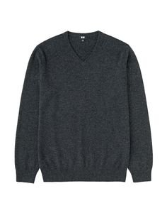 Men's cashmere V-neck sweater, $89.90, uniqlo.com. - TownandCountryMag.com