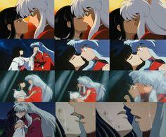 Inuyasha and Kikyo's kisses ❤