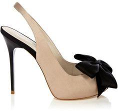 Karen Millen ~ Bow Collection Peep Toe Shoes