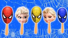 #Elsa and #Spider #Lollipop #Finger #Family Nursery #Rhymes Lyrics  # Co...