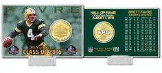 Brett Favre 2016 Pro Football HOF Induction Bronze Coin Card Z157-3320489428