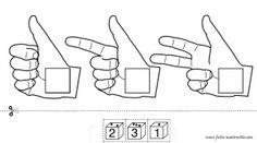 juegos manipulativos. números hasta el 3