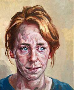 "Saatchi Art Artist Rogier Willems; Painting, ""Femke (2)"" #art"