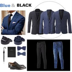 """BLUE AND BLACK FOR MEN"" FLATSEVENSHOP.COM"