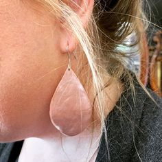 These earrings made by Annie are stunning. Love the organic hand sawn shape. These were made in the half day Silver Earring Workshop.