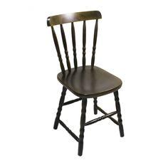 Cadeira Retro Country preta torneada brilho