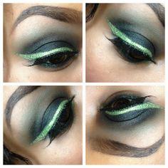 riddler eye makeup for Halloween.