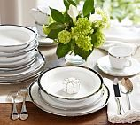 Caroline Porcelain Dinnerware, 20-Piece Cereal Bowl Set, Silver    So it's the bowls, too, just for planning purposes (and menu/nametag placement)