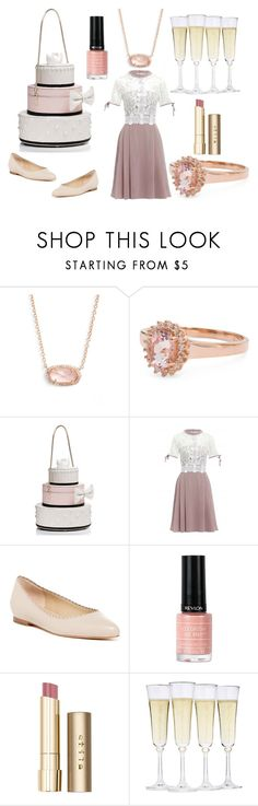 """Bridal Shower"" by autumn-in-paris ❤ liked on Polyvore featuring Kendra Scott, Kate Spade, Via Spiga, Revlon, Stila and Fortessa"