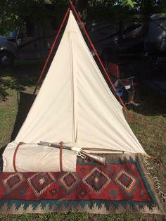 C&ing in a cowboy tent tipi. Jbardcanvasandleather.com & 8x8 range tipi with 2 foot sides walls. https://www.facebook.com ...
