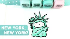 Start spreading the news I'm leaving tomorrow I'm gonna be a part of it, New York Comic Con! :D Spook Sinatra and I are going to be at New York Comic Con thi. Cute Doodle Art, Doodle Art Drawing, Cute Art, Small Drawings, Cool Art Drawings, Easy Drawings, Kawaii Doodles, Cute Doodles, Ohuhu Markers