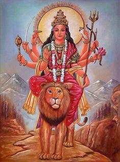 Durga, hindu goddess of strength. Indiana, Navratri Images, God Is, Kali Goddess, Sacred Feminine, Divine Feminine, A Course In Miracles, Divine Mother, Folklore