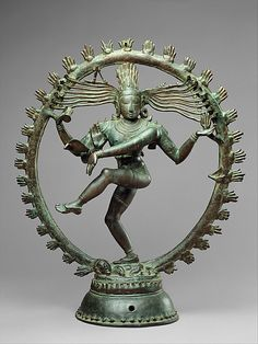 Shankara as Lord of Dance (Nataraja), ca. 11th century. Indian (Tamil Nadu). Chola period (880–1279). The Metropolitan Museum of Art, New York. Gift of R. H. Ellsworth Ltd., in honor of Susan Dillon, 1987 (1987.80.1) #dance #Shiva   As a symbol, Shiva Nataraja is a brilliant invention. It combines in a single image Shiva's roles as creator, preserver, and destroyer of the universe and conveys the Indian conception of the never-ending cycle of time.
