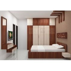 Shop for Mattice Bedroom set with Laminate Finish from the leading online furniture manufacturers Scale Inch. Avail COD and EMI Wardrobe Laminate Design, Wardrobe Door Designs, Wardrobe Design Bedroom, Bedroom Cupboard Designs, Bedroom Bed Design, Bedroom Furniture Design, Modern Bedroom Design, Furniture Layout, Bedroom Sets