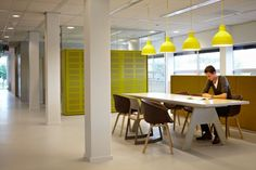 Gas and electricity company Endinet moved into a new office in 2012 with the help of Ex Interiors. The design gives the company an open office environment that has splashed of color throughout.