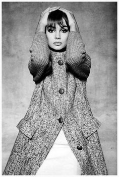 Jean Shrimpton, photo by David Bailey, Queen, February 12, 1964.