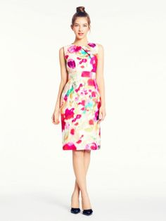 Kate Spade Bowden dress- very ladylike floral dress-so pretty