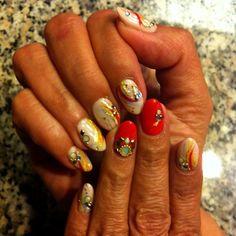 Ready for next trips. #gelnails #handpainted #nailart #ilovenailart #japanesenailart #cali