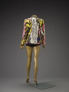 "Franco Moschino (Italian, 1950-1994), ""Jacket (Lichtenstein),"" 1991; Indianapolis Museum of Art, Textile Arts Fund, 2009.22; © Franco Moschino"