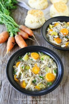 Slow-Cooker Chicken and Wild Rice Soup