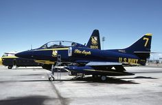 Blue Angels  Skyhawk Blue Angels Air Show, Us Navy Blue Angels, Military Jets, Military Aircraft, Us Navy Aircraft, Aircraft Painting, Vintage Airplanes, United States Navy, Aircraft Pictures