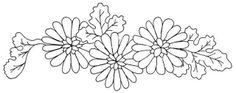 Templates and print drawings: drawings of flowers to embroider Cutwork Embroidery, Hand Embroidery Patterns, Cross Stitch Embroidery, Embroidery Designs, Quilt Block Patterns, Pattern Blocks, Flower Patterns, Flower Designs, Diy Bordados
